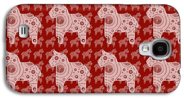 Girl Galaxy S4 Cases - Toy Horse Pattern Galaxy S4 Case by Frank Tschakert