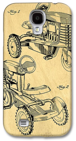 Machinery Galaxy S4 Cases - Toy Tractor Patent Drawing Galaxy S4 Case by Edward Fielding