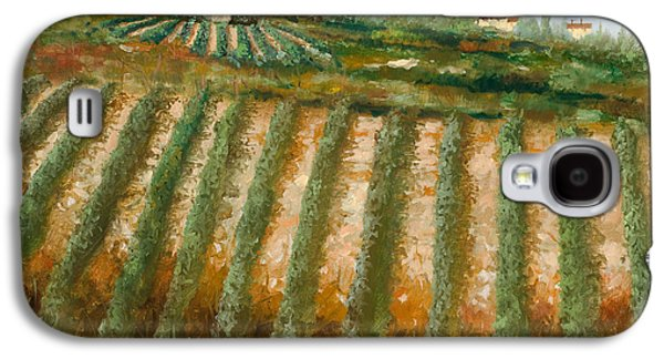 Grape Vineyard Galaxy S4 Cases - Tra I Filari Nella Vigna Galaxy S4 Case by Guido Borelli