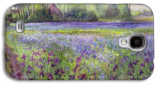 Trackway Past The Iris Field Galaxy S4 Case by Timothy Easton