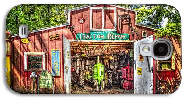 Tractor Repair Shoppe Galaxy S4 Case by Debra and Dave Vanderlaan