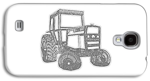 Machinery Galaxy S4 Cases - Tractor Transparent Galaxy S4 Case by Edward Fielding