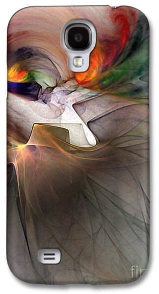 Modern Abstract Galaxy S4 Cases - Tragedy Abstract Art Galaxy S4 Case by Karin Kuhlmann