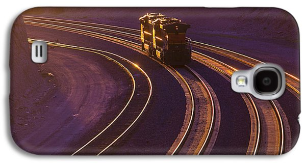 Train At Sunset Galaxy S4 Case by Garry Gay