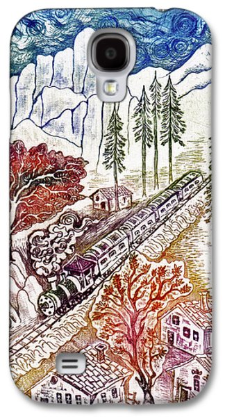 Drypoint Galaxy S4 Cases - Train Galaxy S4 Case by Milen Litchkov
