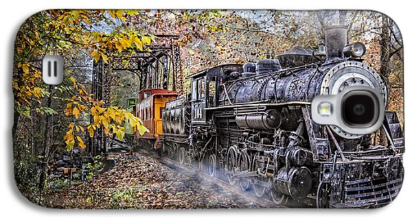 Caboose Photographs Galaxy S4 Cases - Trains Coming Galaxy S4 Case by Debra and Dave Vanderlaan