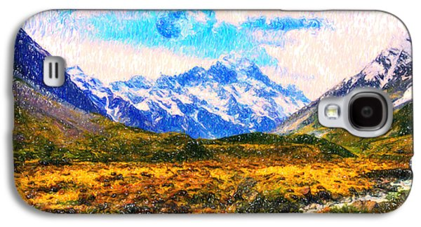 Moral Paintings Galaxy S4 Cases - Tranquility in the highlands Galaxy S4 Case by Celestial Images