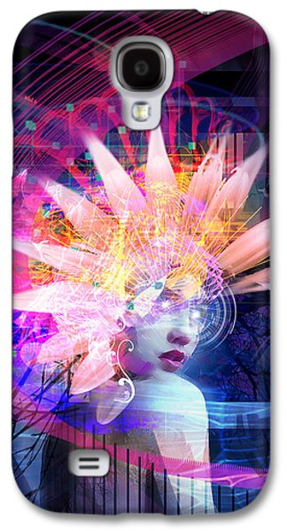 Science Fiction Mixed Media Galaxy S4 Cases - Transcendance Galaxy S4 Case by Philip Straub