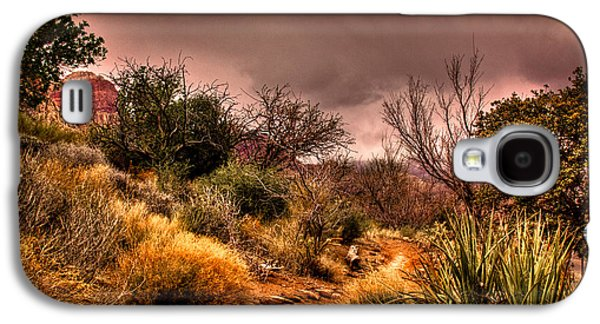 Fault Galaxy S4 Cases - Traveling the Trail at Red Rocks Canyon Galaxy S4 Case by David Patterson