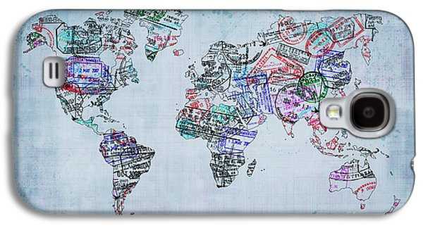 Traveler World Map Galaxy S4 Case by Delphimages Photo Creations
