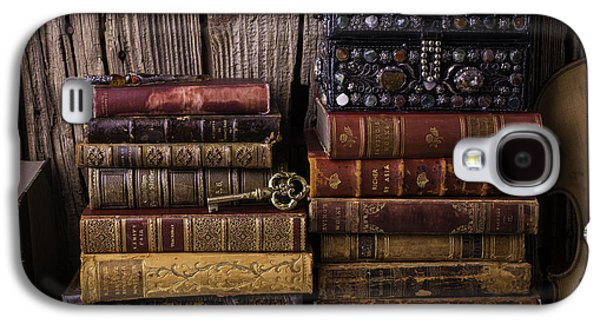 Treasure Box On Old Books Galaxy S4 Case by Garry Gay