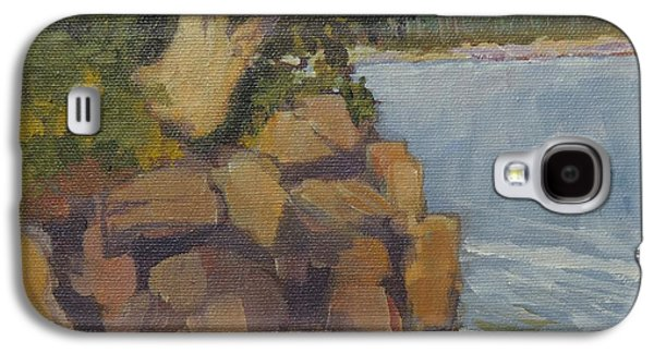 Maine Roads Paintings Galaxy S4 Cases - Tree at Bradford S. Point Galaxy S4 Case by Bill Tomsa