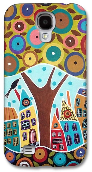Tree Eight Houses And A Bird Galaxy S4 Case by Karla Gerard