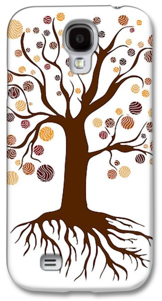 Youthful Drawings Galaxy S4 Cases - Tree Galaxy S4 Case by Frank Tschakert