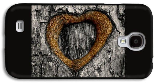 Tree Graffiti Heart Galaxy S4 Case by Chris Berry