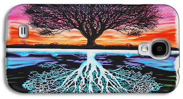 Tree Of Life And Negative Galaxy S4 Case by Brian Schuster