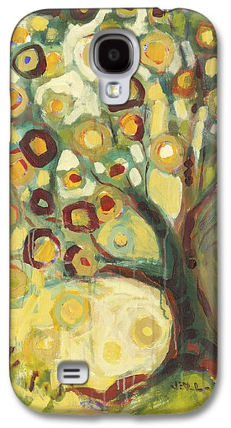 Best Sellers -  - Modern Abstract Galaxy S4 Cases - Tree of Life in Autumn Galaxy S4 Case by Jennifer Lommers