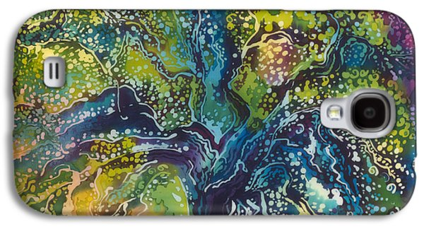 Modern Abstract Tapestries - Textiles Galaxy S4 Cases - Landscape Painting Tree of Life Galaxy S4 Case by Svetlana Fine Art