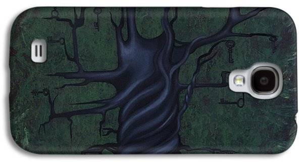 Abstract Nature Paintings Galaxy S4 Cases - Tree of Secrets Galaxy S4 Case by Kelly Jade King