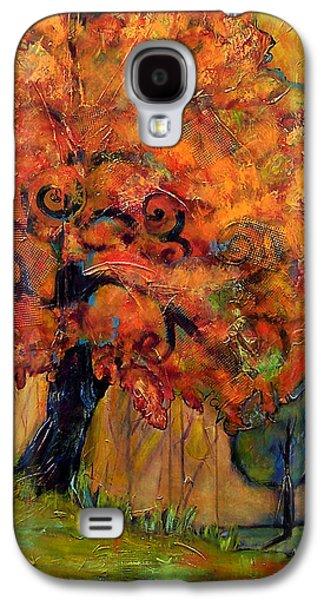 Autumn Paintings Galaxy S4 Cases - Tree of Wisdom Galaxy S4 Case by Blenda Studio