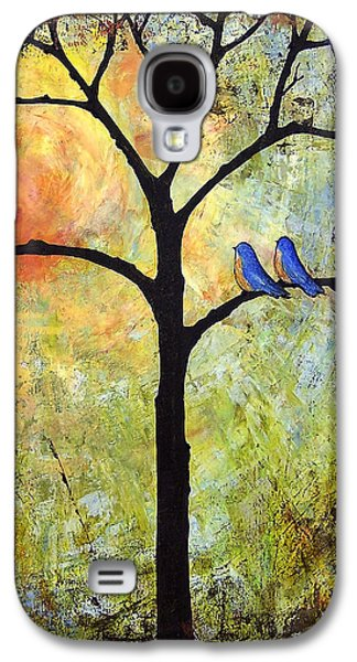 Wall Galaxy S4 Cases - Tree Painting Art - Sunshine Galaxy S4 Case by Blenda Studio