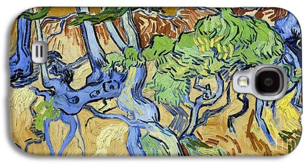 Tree Roots Galaxy S4 Cases - Tree Roots Galaxy S4 Case by Van Gogh