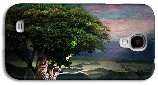 Mystical Landscape Mixed Media Galaxy S4 Cases - Tree Spirit Galaxy S4 Case by Terry Fleckney