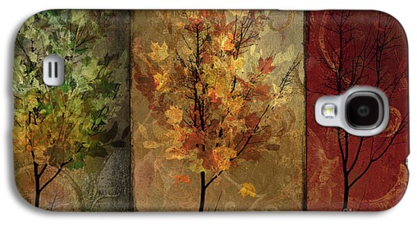 Warm Tones Galaxy S4 Cases - Tree Story Galaxy S4 Case by Mindy Sommers