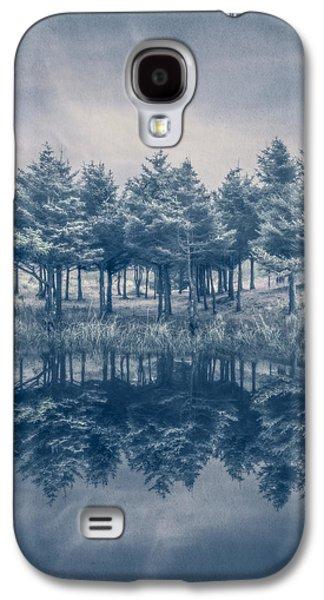 Sanddunes Galaxy S4 Cases - Trees in Blue Galaxy S4 Case by Debra and Dave Vanderlaan