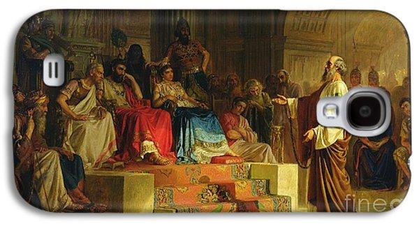 Trial Of The Apostle Paul Galaxy S4 Case by Nikolai K Bodarevski