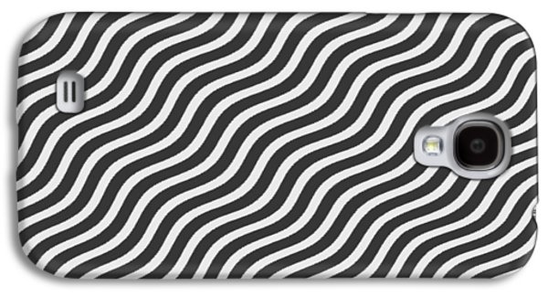 Digital Tapestries - Textiles Galaxy S4 Cases - Tribute to OP ART Galaxy S4 Case by Suzi Freeman