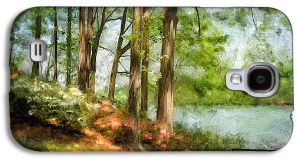 Suburban Digital Art Galaxy S4 Cases - Tridelphia Lake In May Galaxy S4 Case by Lois Bryan