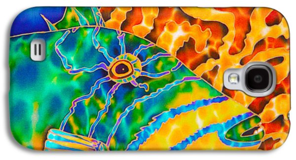 Triggerfish Postcard Galaxy S4 Cases - Trigger and Brain Coral Galaxy S4 Case by Daniel Jean-Baptiste