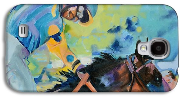 Triple Crown Champion American Pharoah Galaxy S4 Case by Donna Tuten