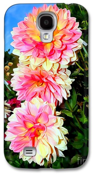 Abstract Digital Photographs Galaxy S4 Cases - Triple Treat Galaxy S4 Case by Ed Weidman