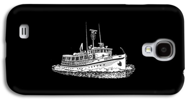 Owner Drawings Galaxy S4 Cases - Triton 88 foot fantail yacht Galaxy S4 Case by Jack Pumphrey