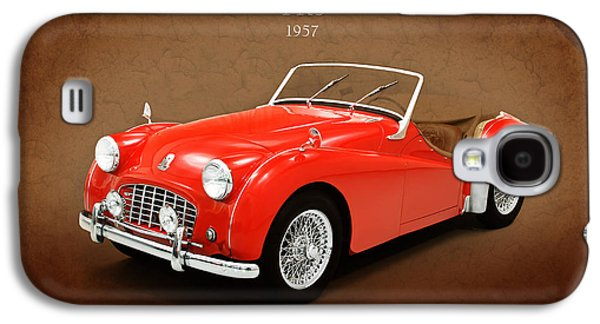Series Photographs Galaxy S4 Cases - Triumph TR3 1957 Galaxy S4 Case by Mark Rogan
