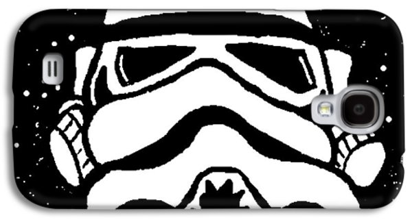 Intergalactic Space Galaxy S4 Cases - Trooper on Starry Sky Galaxy S4 Case by Jera Sky