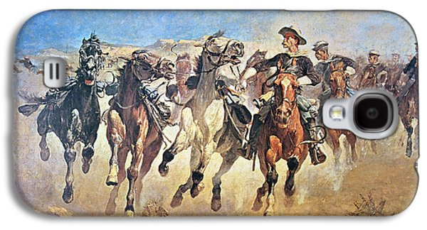 Troopers Moving Galaxy S4 Case by Frederic Remington