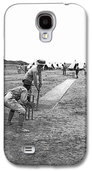 Troops Playing Cricket Galaxy S4 Case by Underwood Archives