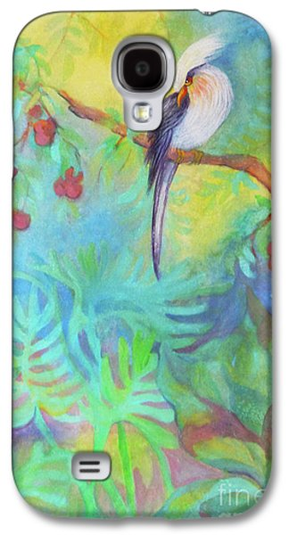 """""""indoor"""" Still Life Paintings Galaxy S4 Cases - Tropical Afternoon Galaxy S4 Case by Sharon Nelson-Bianco"""