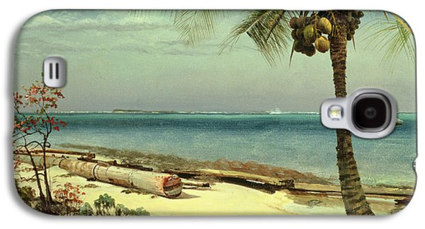 Tropical Coast Galaxy S4 Case by Albert Bierstadt