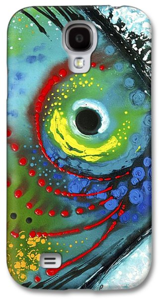 Abstract Art Canvas Paintings Galaxy S4 Cases - Tropical Fish Galaxy S4 Case by Sharon Cummings