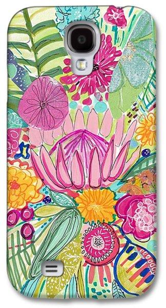 Tropical Foliage Galaxy S4 Case by Rosalina Bojadschijew