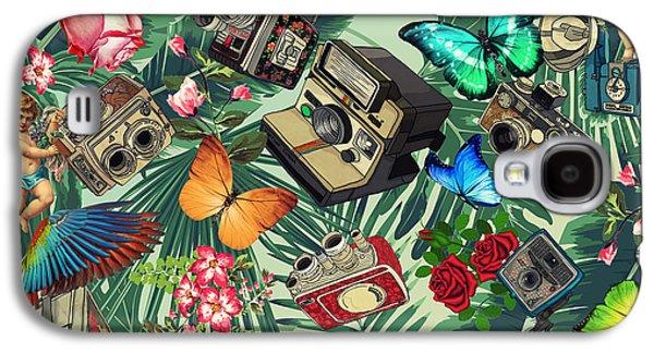 Tropical Fun Vintage  Galaxy S4 Case by Mark Ashkenazi