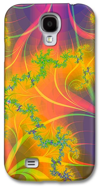 Tropical Kiss Fractal Galaxy S4 Case by Sharon and Renee Lozen
