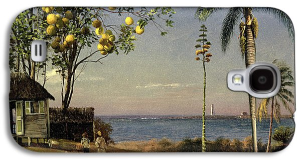 Tropical Scene Galaxy S4 Case by Albert Bierstadt