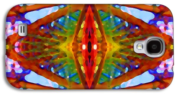 Abstract Digital Art Paintings Galaxy S4 Cases - Tropical Stained Glass Galaxy S4 Case by Amy Vangsgard