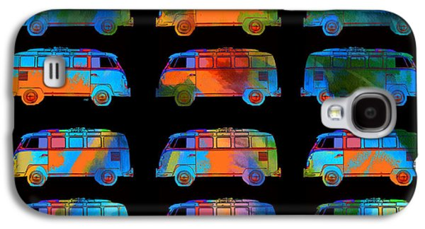 Colorful Abstract Galaxy S4 Cases - Tropical VW Surfer Vans Galaxy S4 Case by Edward Fielding