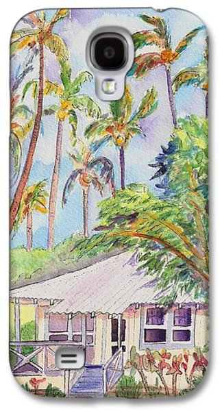 Bamboo House Galaxy S4 Cases - Tropical Waimea Cottage Galaxy S4 Case by Marionette Taboniar